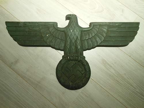 Deutsche Reichsbahn railroad Eagle from France