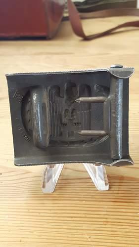 DRK buckle, maker marked Overhoff