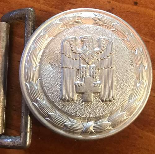 Deutsches Rotes Kreuz Officers buckle