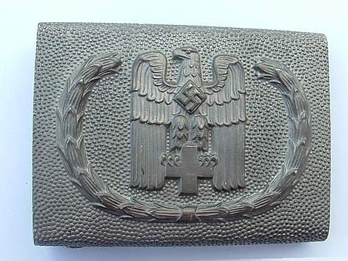 Weimar /Model 1933 DRK buckle for review