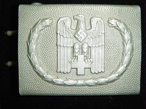 "Buckle German Red Cross ""DRK"", manufacturer Overhoff."