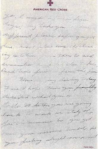 Letters home from a wounded soldier...
