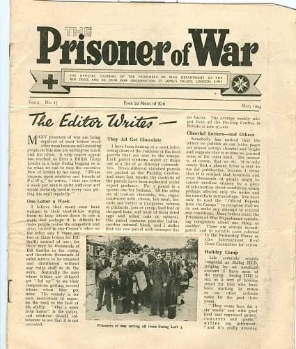 Prisoner of War NEwspaper