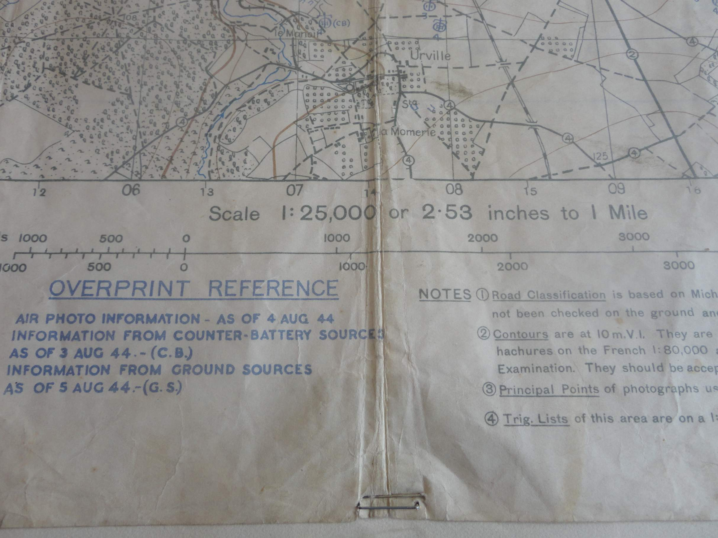 Operation Totalize Original Canadian Secret Map Normandy - Paper size us white map