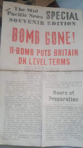1950s H bomb newspaper