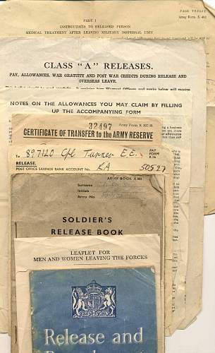 D-Day Vet's Papers 999th PO Coy RE