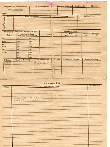 Stalag Luft No.1. paper work from a prisoner