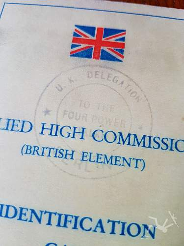 Allied High Commission ID Card
