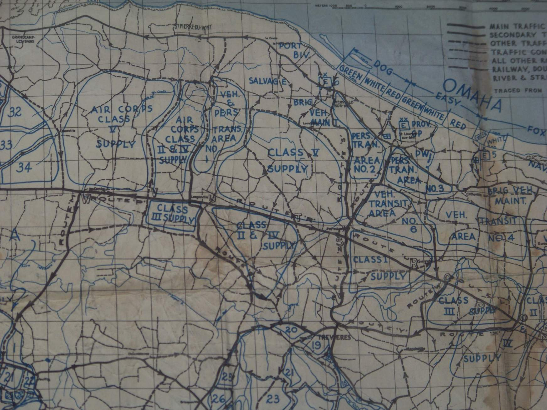 Normandy Omaha Beach Map