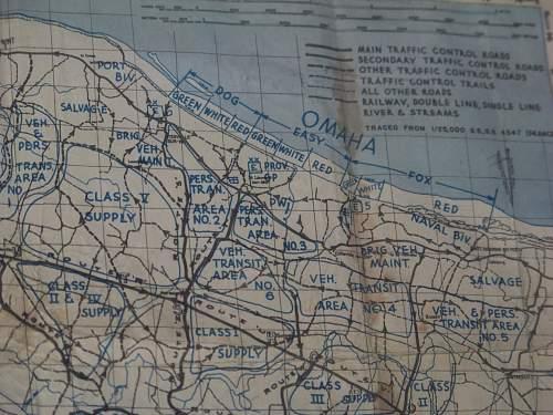 Normandy Omaha beach map.