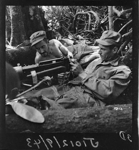 Photos of New Zealand Army wearing US made HBT uniform, Pacific 1943