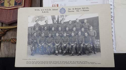 W.Os. and NCOs school N° 16 Belgian NCOs RASC course N°7 platoon