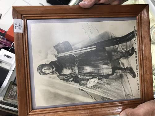 Need Help with autographed ADM Byrd Photo