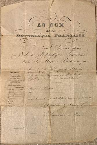 French translation of document - unusual Pass or Passport?