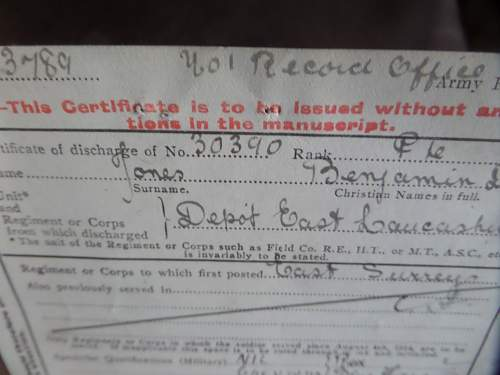 Carboot find from today Paperwork lot from a  POW in WW1 who lost a leg