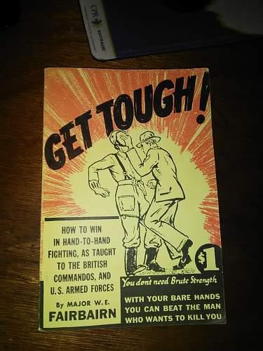 """Help needed : what date of printing? """"Get Tough"""", maj. FAIRBAIRN"""
