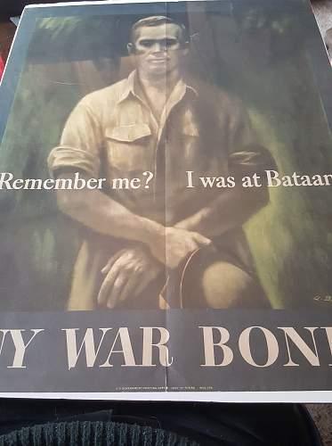 Bataan war bonds poster
