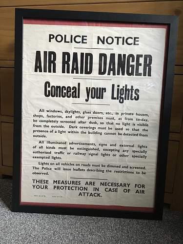 Air Raid Warning Poster