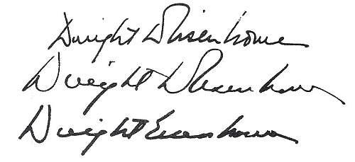 Eisenhower Signature Opinions Please
