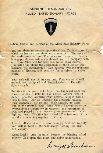 Eisenhower D-Day letter