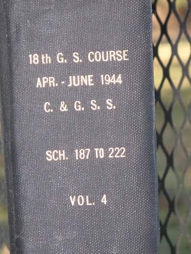 Apr-June 1944, 18th G.S. course