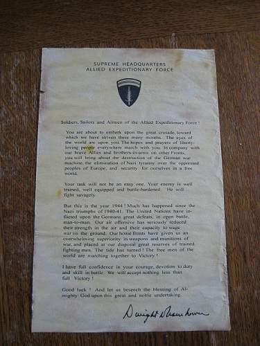 Eisenhower letter D-day - Original?