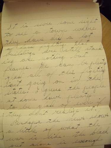 ww2 US letter home about war