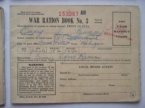War Ration Books