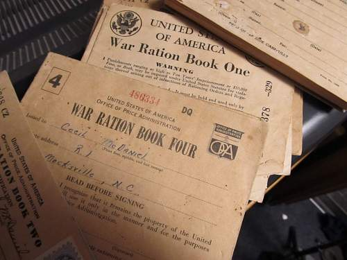 """IRTC """"I am a Doughboy"""" booklet, ration booklets, LOA Application"""