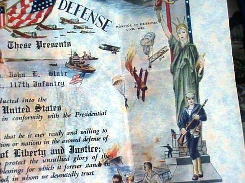 1941 US army induction certificate