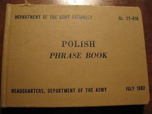 US Army Polish phrase book