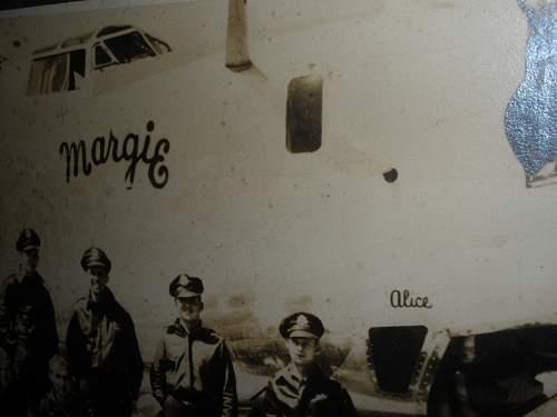 U.S  crew of B-24 BOMBER