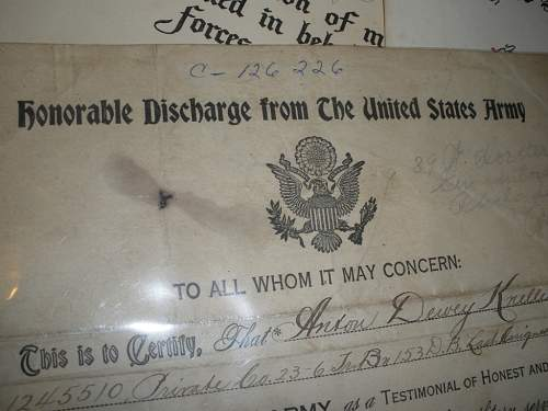 Ww1 discharge papers