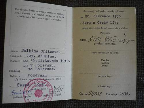 Czech Red Cross card?