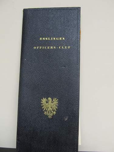 Interesting small Esslingen Officers' Club group