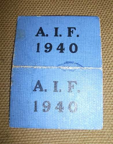 """Aussie Tram Tickets WW2 """"Returned Soldier Only"""""""
