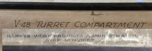 WPA V48 US Navy Gun Turret drawing WWII