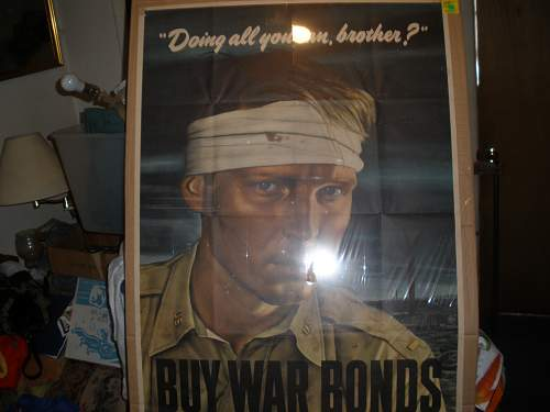 very large ww2 us poster