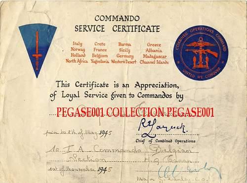 Belgium grouping 10 commando interallied