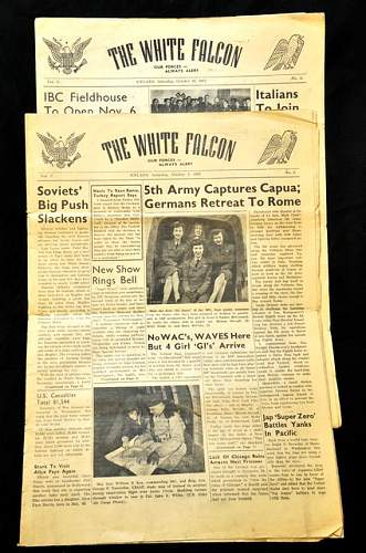 NEWSPAPERS, Theater, Div.,& Regiment.