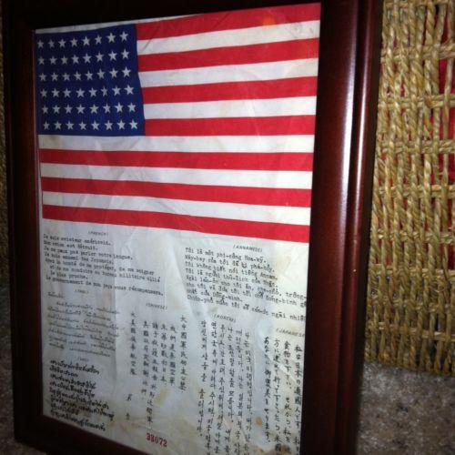 US Blood Chit  Burma