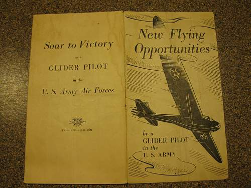 US Glider Pilot recruitment leaflet