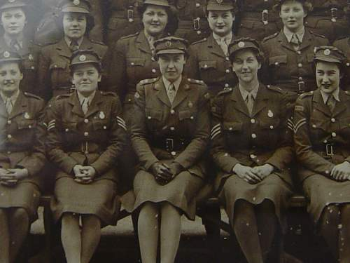 Framed group photo: ATS Drivers RAC OCTU Sandhurst May 1943