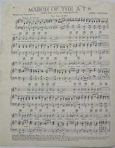 The March of the ATS sheet music.