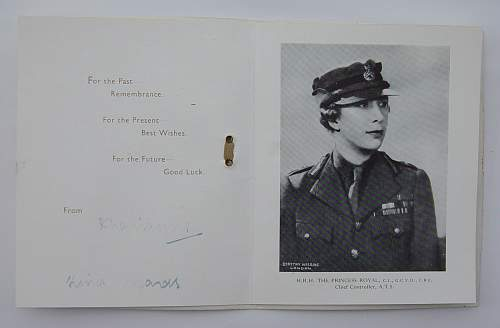 Autographed Portrait photo of Princess Mary, Colonel in Chief of the ATS