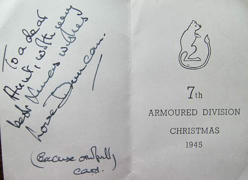 7th Armoured division 1945 Christmas card
