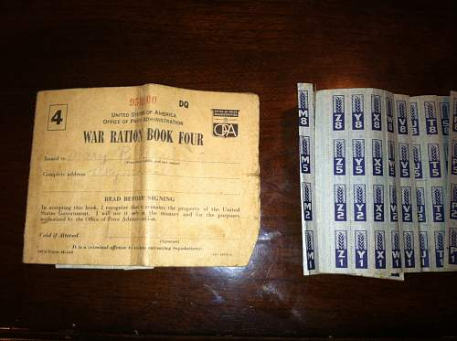 Identification of ration book stamps