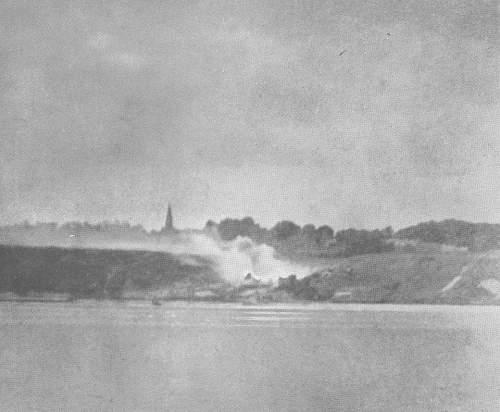 June 6 1944, USS Texas Photos at Omaha Beach