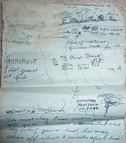 1944 Post D-DAY (Bayeux) Description of fighting in soldiers personal letter