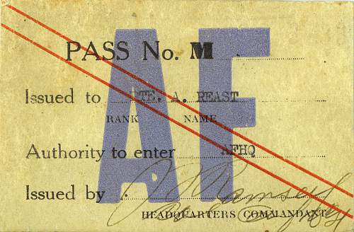 Allied Forces HQ pass